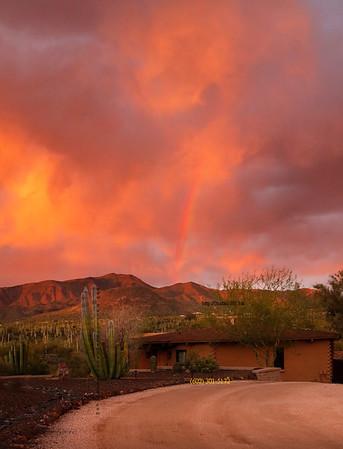 House_orange sky_rainbow 8415