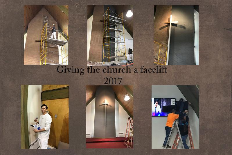 church gets a facelift - 2017 slide