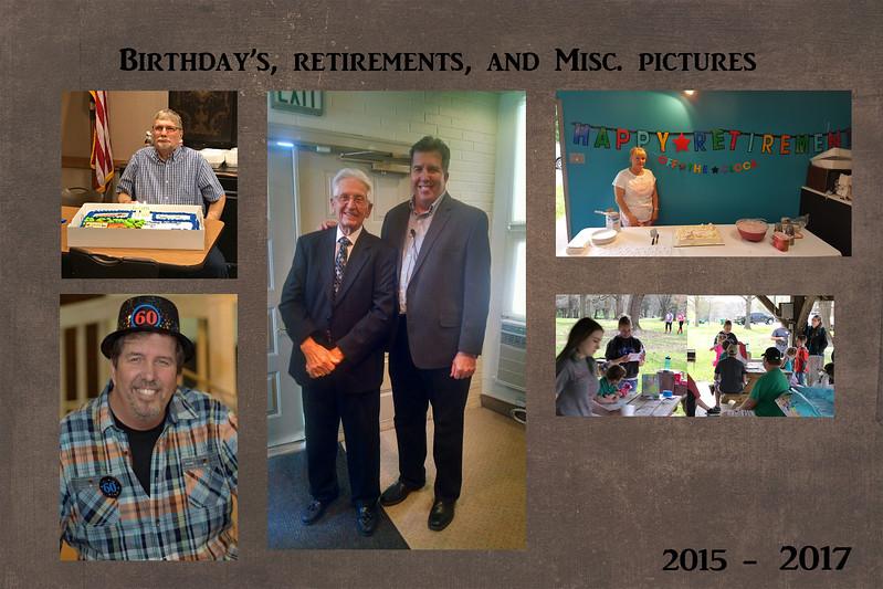 Fellowship through the years slide 15 birthdays retirement and misc photos 2017
