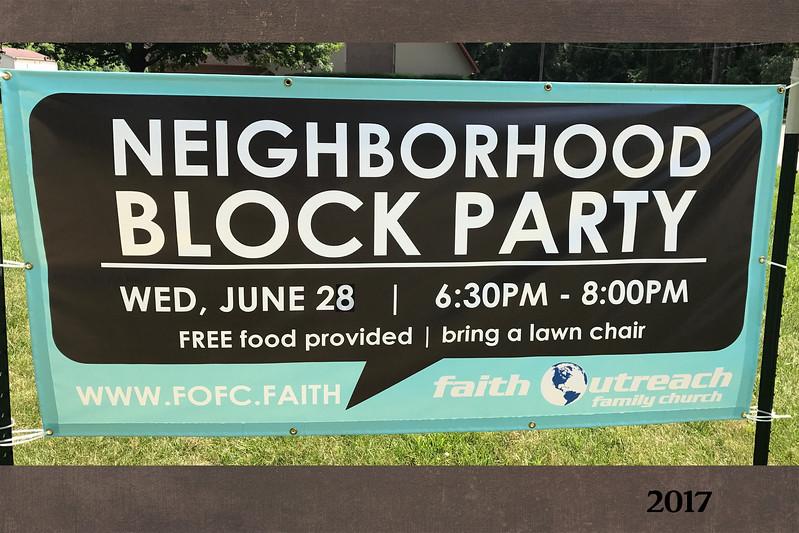 Fellowship through the years slide 13 neighborhood block party 2017