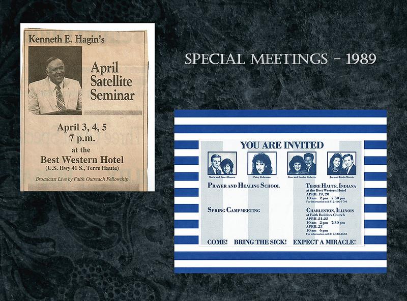Slide 3 -special meetings 1989
