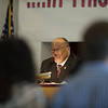 6/19/16 FITCHBURG-- Bishop Bryant Robinson Jr. gives Intercessory Prayer during Sundays Church Founders Day Celebration at the First Church of Christ in Fitchburg.  Sentinel & Enterprise photo/Jeff Porter