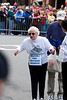 Alice Salos powered-walked the marathon. She is 80 years old.