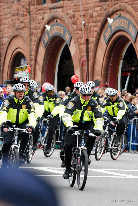 Cops on Bikes.