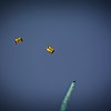 The Navy's Parachute Team. At the Indepence Day Celebration at the World War I Museum and Memorial, Kansas City, Missouri