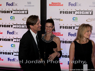 Hurcules TV series star Kevin Sorbo and wife Sam on the red carpet during the Muhammad Ali Celebrity Fight Night XVII at JW Marriott Desert Ridge Resort & Spa in Phoenix on Saturday, March 19, 2011.