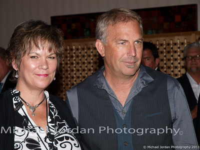 Actor Kevin Costner and Trish Arana on the red carpet during the Muhammad Ali Celebrity Fight Night XVII at JW Marriott Desert Ridge Resort & Spa in Phoenix on Saturday, March 19, 2011.