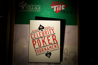 Photo and Video gallery of Saturday, April 4th, Opportunity Village held its annual Celebrity Poker Tournament at Caesar's Palace in Las Vegas attended by 180 players including local Entertainment and Poker Celebrities. Celebrities included Howard Lederer, Chris Ferguson, Erica Shoenberg, Perry Friedman, Jason Feinberg, David Singer, Matt Savage, Karina Jett, Annie Duke, Penn Jillette, Emily Jillette, Jonathan 'Fatality' Wendel, Dian Diaz, Kato Kaelin, the Chippendales, the Fantasy Girls and Oklahoma Johnny Hale. They were playing Texas Hold'Em Poker for a chance to win a seat at the World Series of Poker and $10,000 in cash. The tournament was sponsored by FullTiltPoker.net, an online poker site.