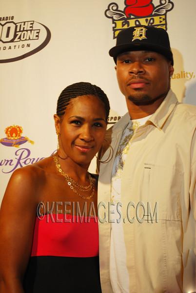 Terri Vaughn and her husband Karon Riley