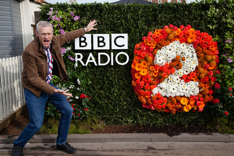Jeremy Vine promoting the BBC Radio 2 Show Gardens, Chelsea Flower Show, London, England,