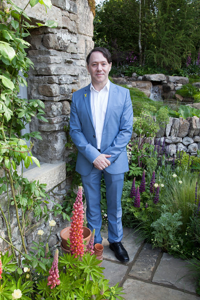 Celebrities visiting the Welcome to Yorkshire Garden at the Chelsea Flower Show 2018, Chelsea, London, UK