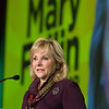 Governer May Fallin speaking at the Certified Healthy Luncheon at the Cox Center.