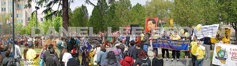 Cesar Chavez march in Sacramento, 3-29-08.