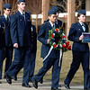 "Cadets, John Nguyen, left, and Liz Notary, lead Air Force ROTC members to the Ellison Onizuka and Chalenger Memorials.<br /> Air Force ROTC cadets at the University of Colorado held a memorial to honor the crews of Challenger and Columbia space shuttle disasters on Saturday on campus. For more photos and a video of the ceremony, go to  <a href=""http://www.dailycamera.com"">http://www.dailycamera.com</a>.<br /> Cliff Grassmick/ January 29, 2011"