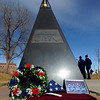 "The Ellison Onizuka Memorial near Fiske Planitarium. <br /> Air Force ROTC cadets at the University of Colorado held a memorial to honor the crews of Challenger and Columbia space shuttle disasters on Saturday on campus. For more photos and a video of the ceremony, go to  <a href=""http://www.dailycamera.com"">http://www.dailycamera.com</a>.<br /> Cliff Grassmick/ January 29, 2011"