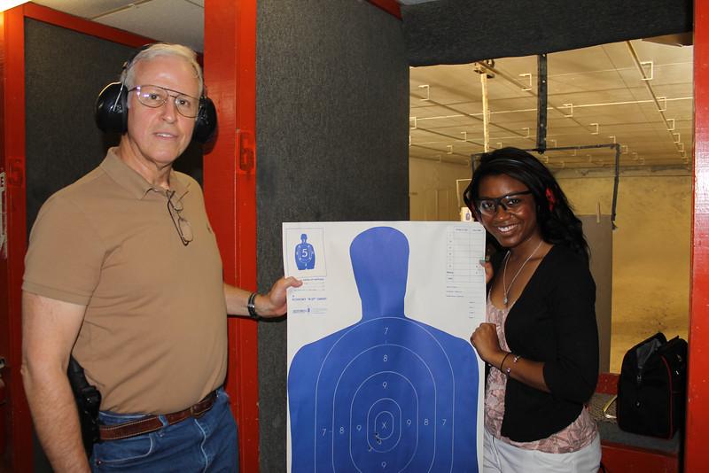 Former Sheriff Greg Phares and WAFB-TV reporter Kelsey Davis.