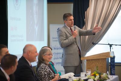 Westfield Chamber of Commerce Breakfast, with Keynote speaker, Jay Ash, Secretary of Housing and Economic Development, at Westfield State university, June 2017