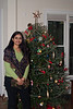 Prashanti in front of the tree