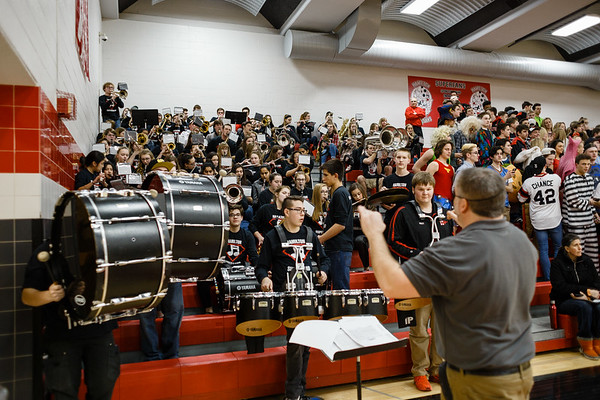 2017-02-17 | Pep Band Hamilton vs Menomonee Falls