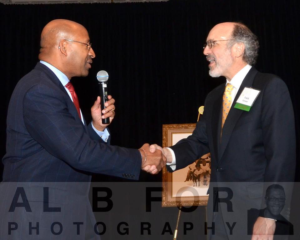 Hon. Mayor Michael Nutter with Frank Cervonne