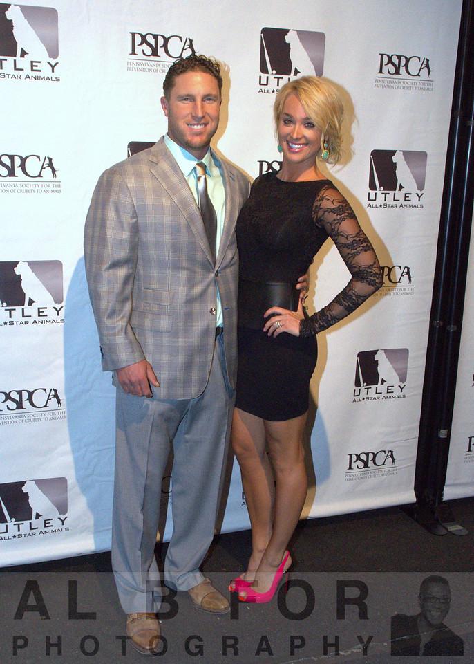 Philadelphia Phillies' Chase Utley and wife Jennifer Utley Host 6th Annual Utley All-Star Animals Casino Night