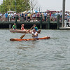 Wooden log canoe launch & float test