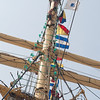 Barque Kruzenshtern, Russian tall ship - sailors up the mast