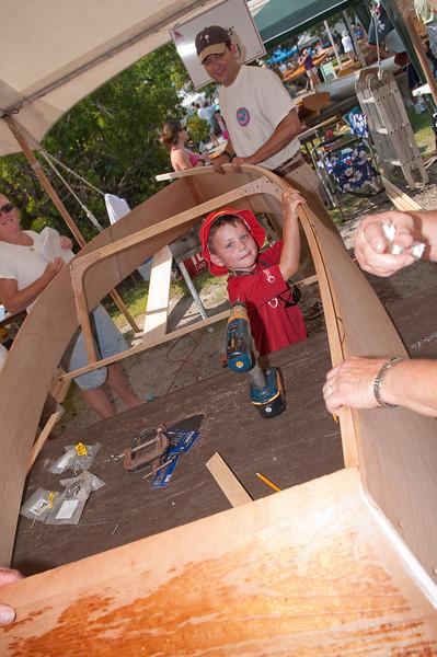 Family Boat Building activity
