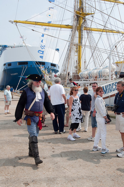 Pirate on the wharf