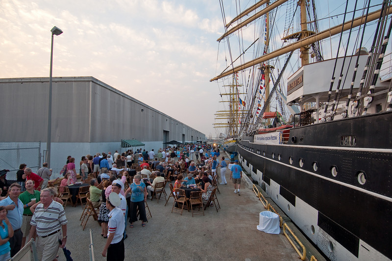 International Tall Ships Soiree wharf and Kruzenshtern
