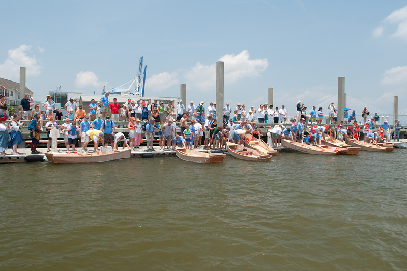 Family Boat Building Launch & Float Test