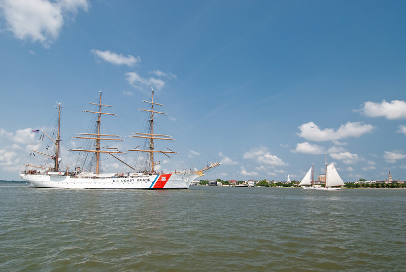 USCGC Eagle in Charleston, SC harbor