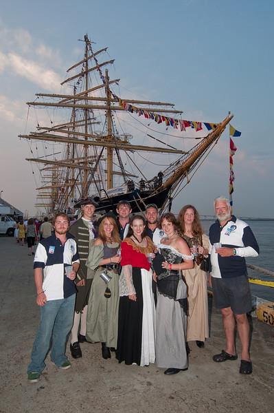 International Tall Ships Soiree with Kruzenshtem in background