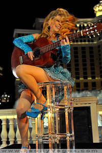 "Photo shoot for making of PBS Special ""The Best Of Entertainment Las Vegas Style"" starring Charo with many famous guest music stars from the past like Bobby Darin."