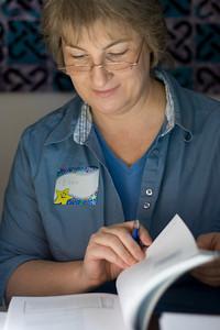 Ellen reading.
