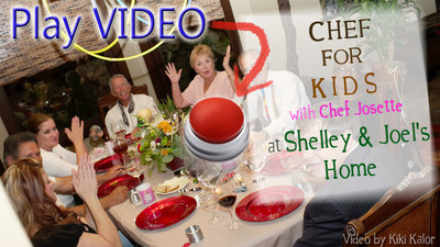 Chef For Kids video with Chef Josette preparing a 6 course French cuisine meal in the home of Chef For Kids sponsors Joel Stelzner and Shelly Brown with 6 of their close friends Ri, Peter, Barry, Viv, Sharon and Jose. Lots of fun, good food with Joel Stelzner as your extraordinary Sommelier featuring a home wine cellar brimming with must-have cabs and red wines. Video by Kiki Kalor of www.KikiKalor.com