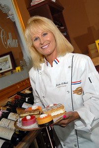 "High quality photograph  of Chef Josette and her cooking show ""La Cuisine.""  ""La Cuisine"" can also be seen airing on BBC and in Las Vegas airing on Vegas TV Cable 14. Photographs Copyright 2009 Mark Bowers All Rights Reserved"