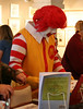 Ronald McDonald likes to read too. Chemers Gallery Children's Book Illustration Show and Signing 2006.