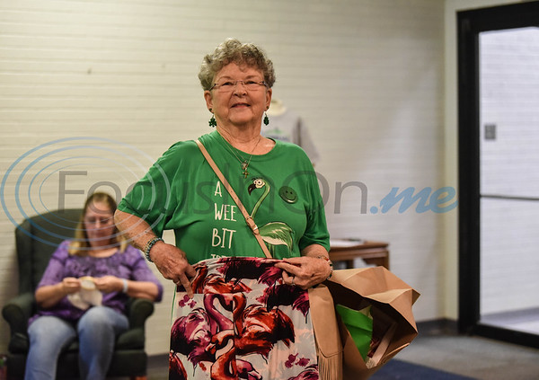 Phyllis Hail smiles for a photo while shopping at the Cherokee Craft & Trade Fair in Jacksonville on Saturday, March 14.