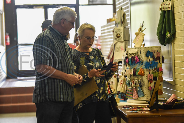 Despite growing health concerns, fair goers headed to the Ruby Ballroom in Jacksonville for the Cherokee Craft & Trade Fair on Saturday, March 14.