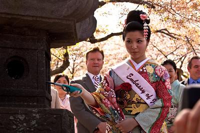 Japanese Stone Lantern Lighting Ceremony