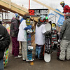 Record-Eagle/Keith King<br /> Participants wait in line prior to competing in the EpicHappens 'Downtown Throwdown Rail Jam' Saturday, February 19, 2011 during the Cherry Capital Winter Wow!Fest.