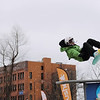 Record-Eagle/Keith King<br /> Geordon Carter, 14, of Traverse City, competes in the EpicHappens 'Downtown Throwdown Rail Jam' Saturday, February 19, 2011 during the Cherry Capital Winter Wow!Fest.