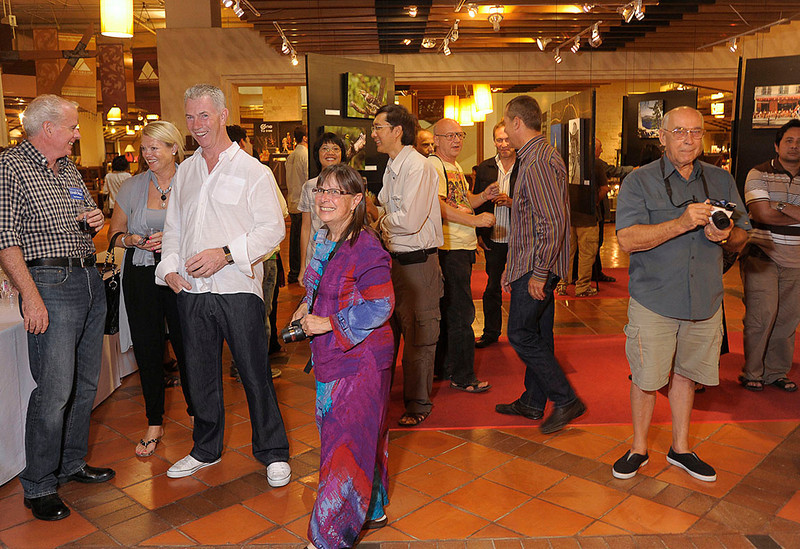 Opening of the Chiang Mai Photographic Group Exhibition 2011at Northern Village, Central Airport Plaza, Chiang Mai, Thailand, 15 January 2011.