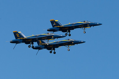 Blue Angels formation, landing gear down