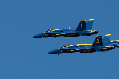 Blue Angels formation, 1 and 3