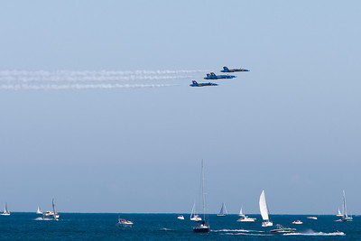Blue Angels formation over Lake Michigan