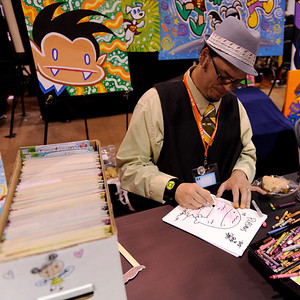 Art Baltazar is pretty Awesome -- with a quick sketch of Plasmus for the kids.