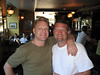 Taking a break at O'Kelly's bar at the Hilton.  Pfeifer here with his newest friend, Andy Bell of Erasure.