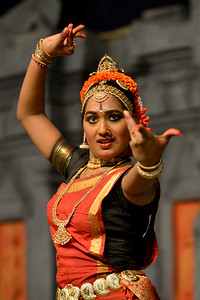 "Kuchupudi performance by Reddi T Lakshmi. Performance at Chidambaram Natyanjali Dance Festival 2015 held at Chidambaram in February 2015. The festival is known for its serenity and uniqueness of the devotion of the dancers dedicating their ""Natya"" (Dance) as ""Anjali"" (Offering) and worship to the Lord of Dance - Lord Nataraja (Shiva). T. Reddi Lakshmi is a talented Kuchipudi performers having learnt for the last 15 years under the eminent Gurus Padmasri Jayarama Rao and Vanashree Rao. Lakshmi is an empanelled artist of ICCR. Lakshmi has received the prestigious Nritya Shiromani award for her excellence in Kuchipudi Dance in the International Cuttack Mahotsav and the prestigious title of Nritya Jayantika from Mayadhar Raut Odissi Dance Academy."